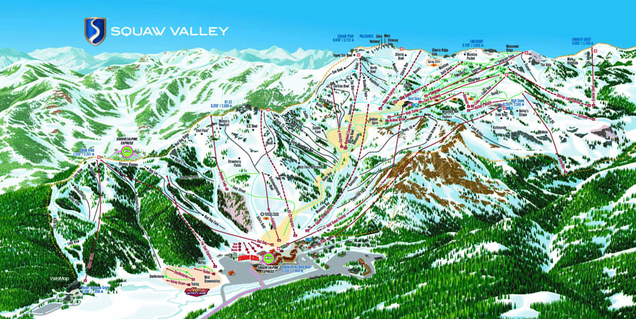 Pistes de ski de Squaw Valley